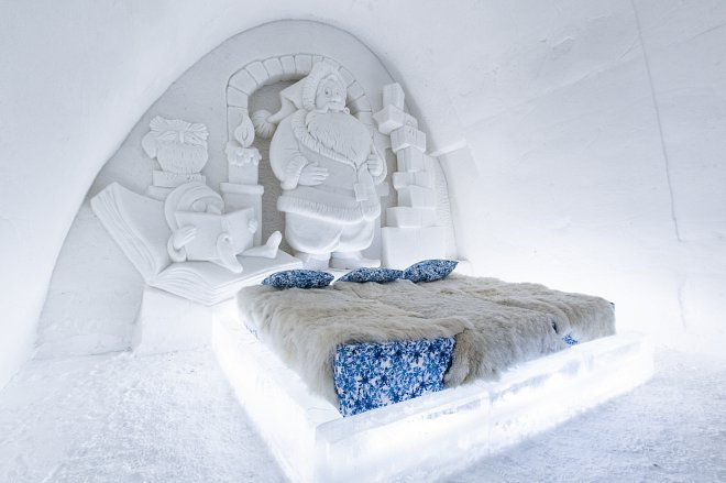 Snowcastle in Kemi, Finland